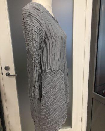 Grizas silkki-pellava tunika harmaa