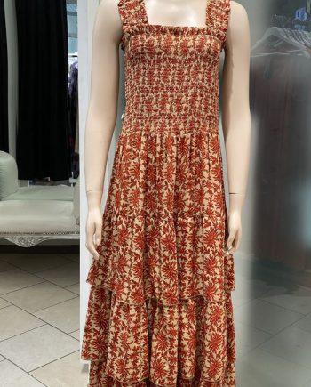 Laura strap dress (puna-ruskea) Sissel Edelbo