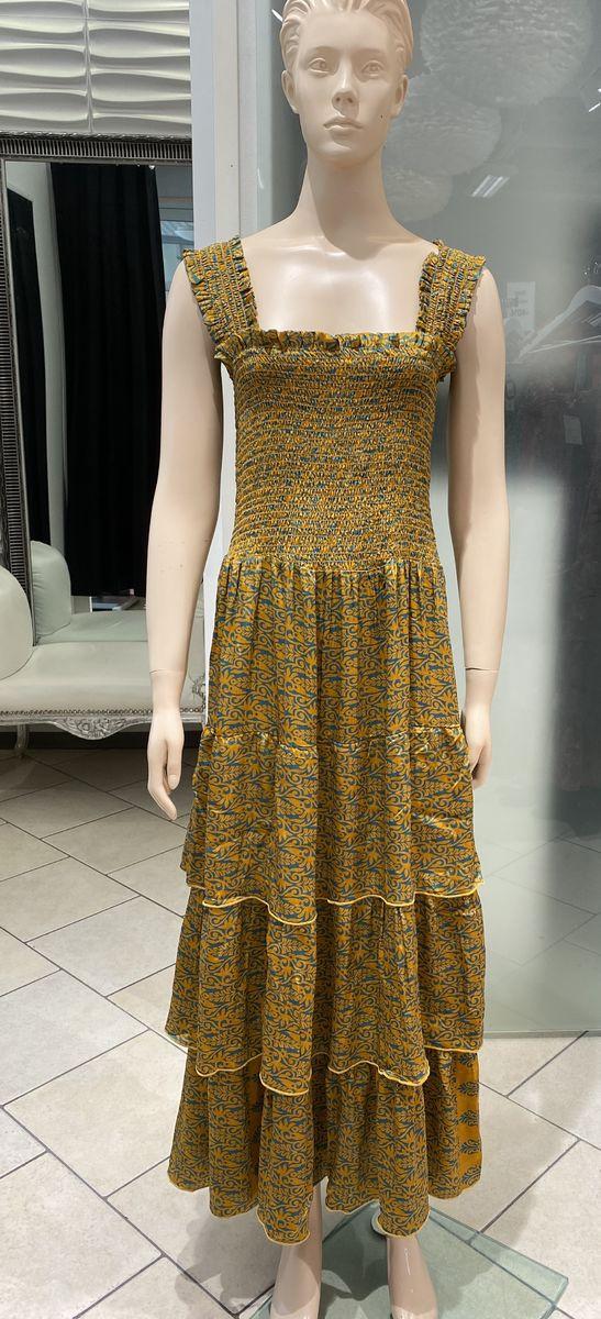 Laura strap dress (ruskea-vihreä) Sissel Edelbo