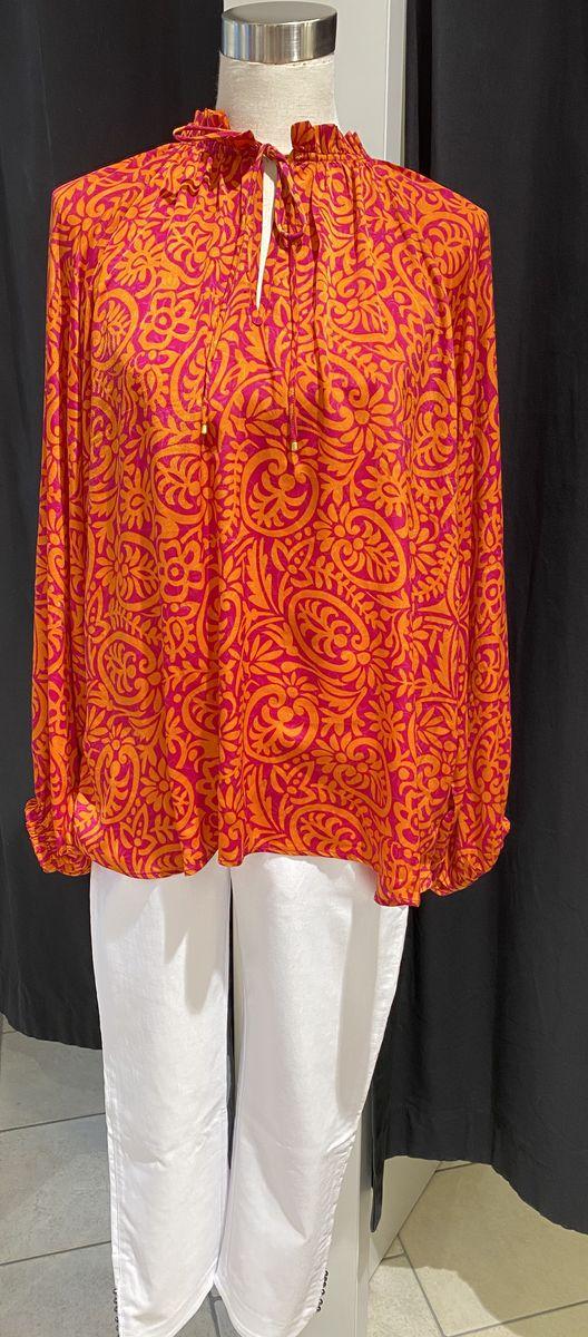 Sissel Edelbo paita oranssi-violetti