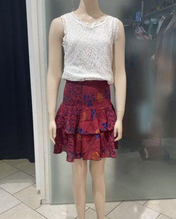 Suleima Silk mini skirt (punainen) Sissel Edelbo