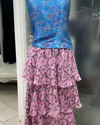 Ulrika long silk skirt (pinkki) Sissel Edelbo