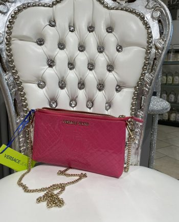 Versace Jeans pinkki iltalaukku