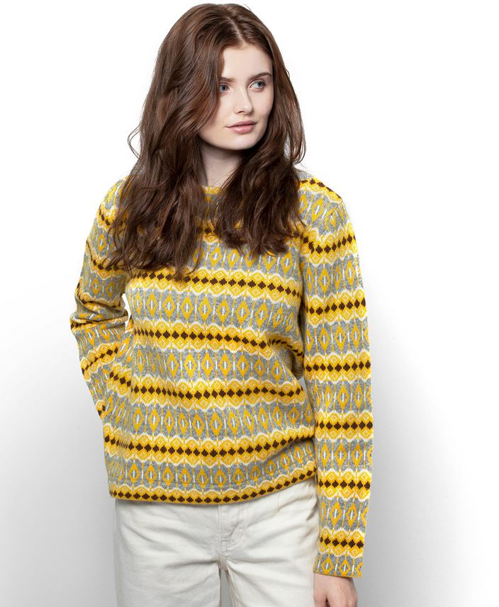 Jumperfabriken Celeste Yellow neulepusero